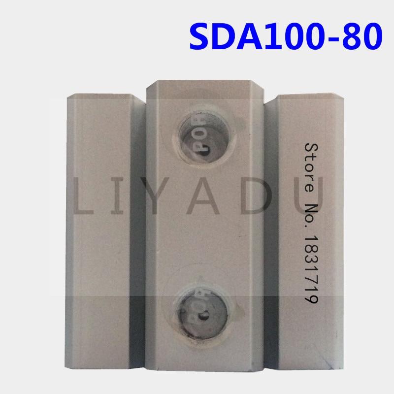 SDA100-80 thin cylinder Series 100mm Bore 80mm Stroke SDA100*80 Aluminium alloy cylinder SDA100X80 80 80mm