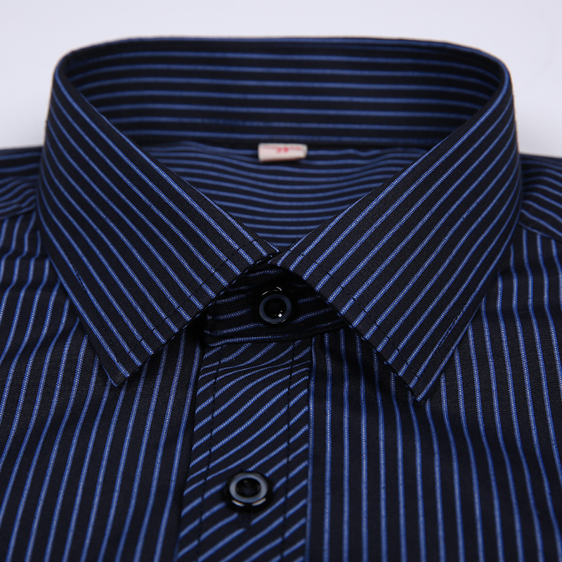 2020 Men Shirt Mens Business Casual Long Sleeved Slim Fit Shirts Men Striped Dress Work Social Dress Shirt Brand Clothes DS022 6
