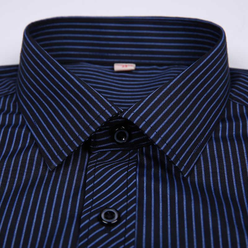 DAVYDAISY/Лидер продаж, Весенняя Мужская рубашка в полоску с длинными рукавами, однотонная Клетчатая Мужская деловая рубашка, брендовая одежда, официальная рубашка для мужчин DS022
