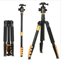 QZSD 570AProfessional Camera Tripod Aluminum alloy Photo Tripod with Rocker Arm Ball Head for Canon Nikon SLR Camera