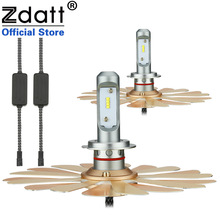 Zdatt Fanless ZES H7 Led Bulb Canbus Car Light 100W 12000LM Headlights 12V 24V Auto Lamp 360 degree Adjustable Beam Pattern