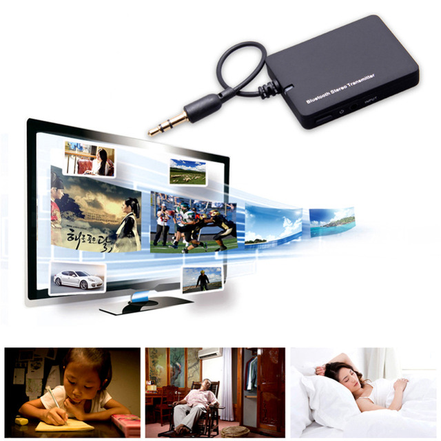 2016 Mini 3.5mm Bluetooth Audio Transmitter A2DP Stereo Dongle Adapter for TV iPod Mp3 Mp4 PC Bluetooth Audio Music Receiver
