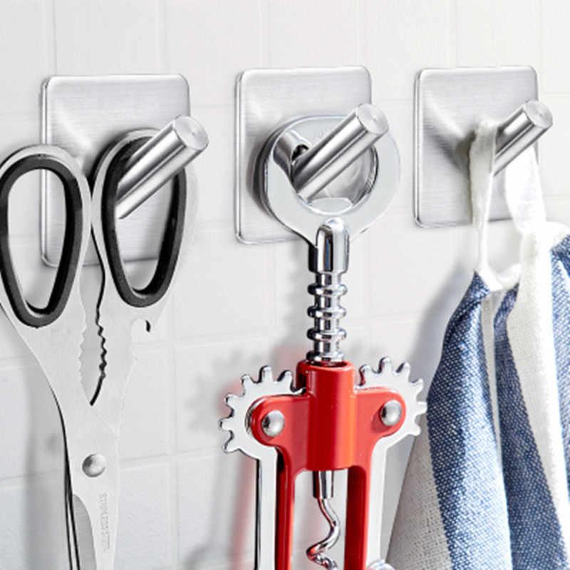 LIYIMENG Крючки из нержавеющей стали 3 М наклейка на стену дверь Одежда Пальто шляпа Вешалка Кухня Ванная комната нержавеющий держатель для полотенец крючки