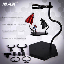 1pcs 1/6 1/9 1/12 Action Figure ACC doll Stand 25cm Adjustable Black Universal Bracket Snake Bone Posable