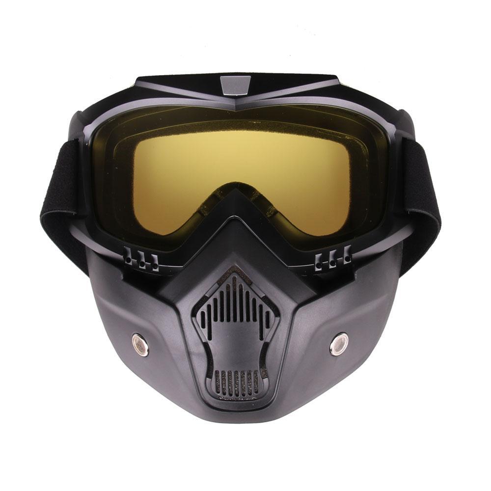 WoSporT открытый Гонки Съемная мотоциклетный шлем защитный Уход за кожей лица Маска щит очки лыжные очки лыжи Очки Шлемы