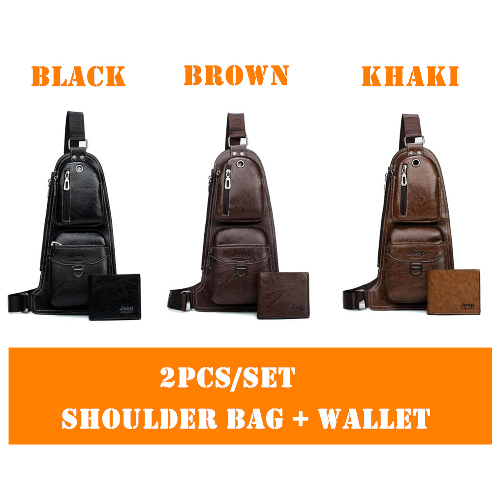f8076565668 ... JEEP BULUO Brand Men Bags Cross body New Hot Crossbody Shoulder Bag  Famous Brand Man's Leather ...