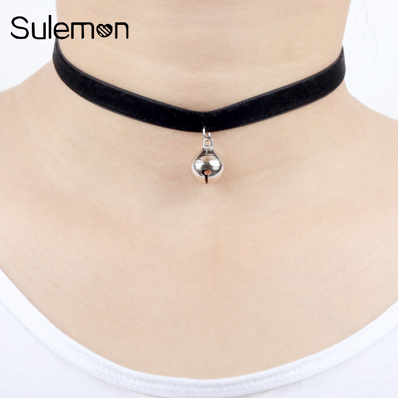 Trendy Red And Black Rose Chain Chokers Necklaces With Heart Pendant Or Women Girls 2019 New Arrival Fashion Jewelry Choker Necklaces