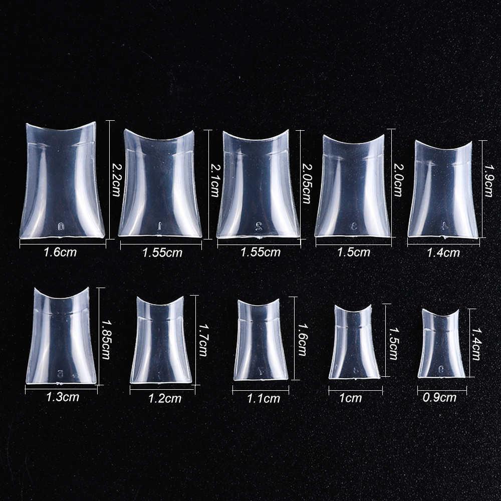 Накладные ногти, 500 шт., прозрачные накладные ногти Natura Color, Французский акриловый накладные ногти, полный или полупокрытие, декоративный маникюр, инструмент CH871
