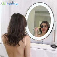 Mirror included,Vanity Tabletops Light, Makeup Mirror Lights Touch Screen Stage Beauty Cosmetic led lamp, Oval studio lighting