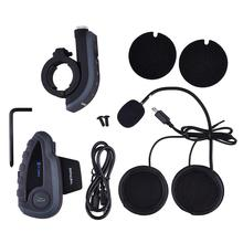 Motorbike Bluetooth Headset Helmet For 5 Riders Intercom With NFC Remote Controller FM V8 BT Interphone 1200M Intercomunicador