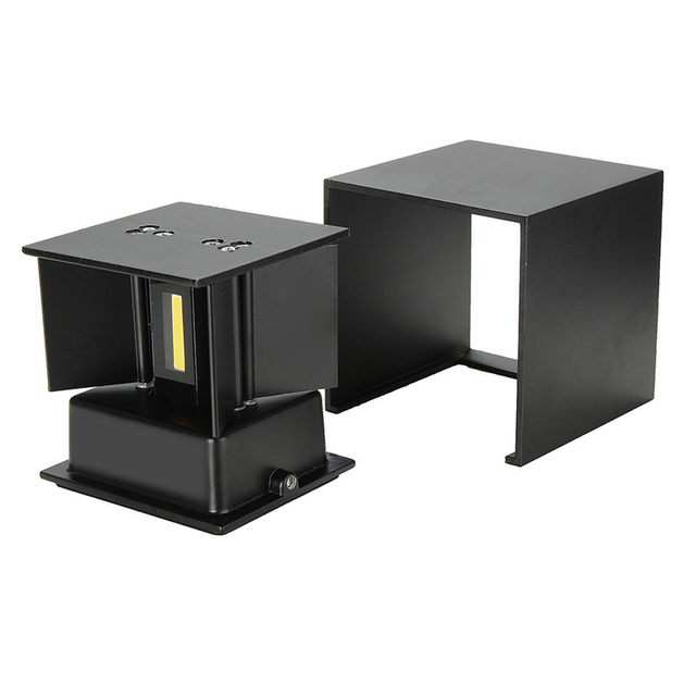 Online shop waterproof modern outdoor led cube wall lamp up and down waterproof modern outdoor led cube wall lamp up and down adjustable light angle cob aluminum ac85 265v 6w led porch light mozeypictures Images