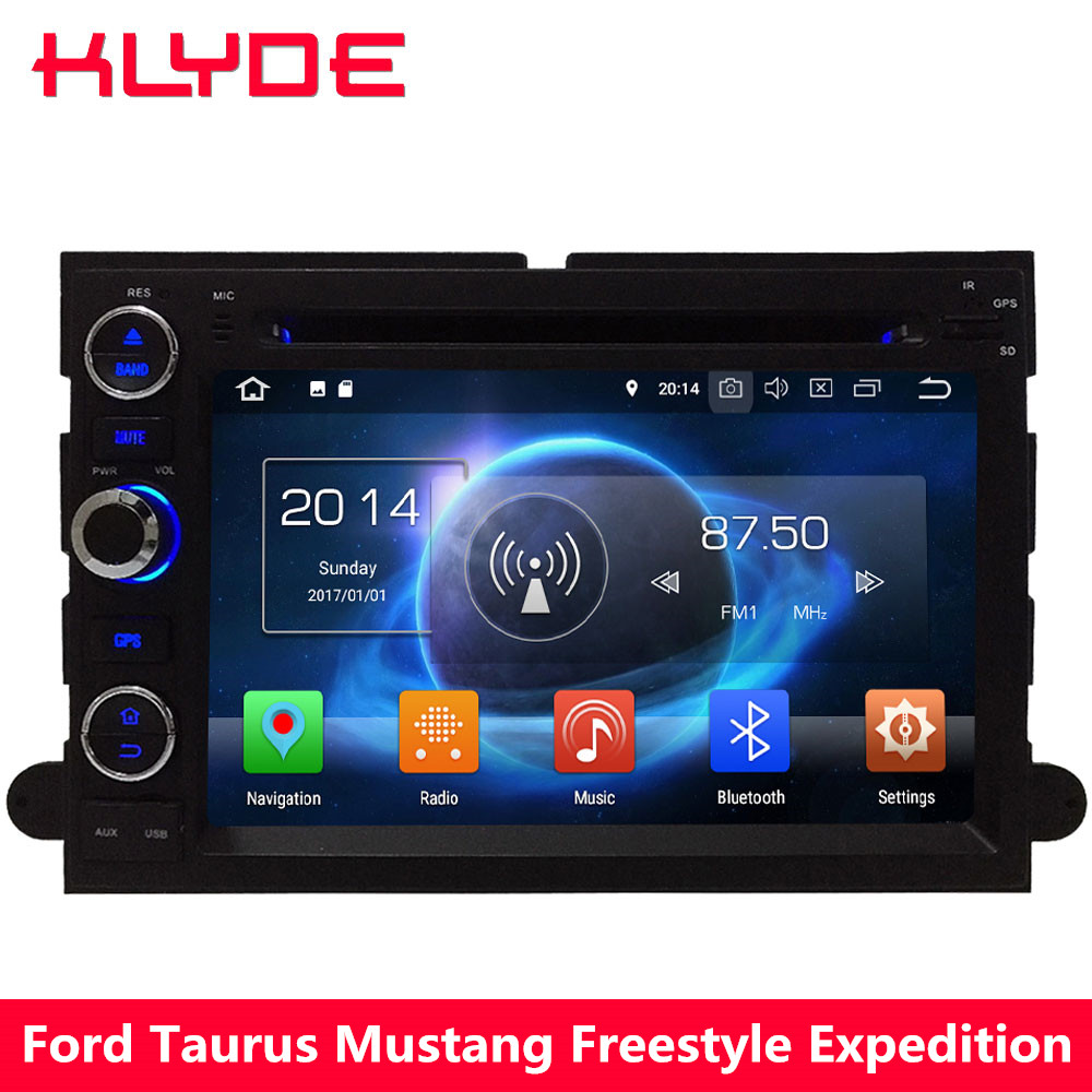 KLYDE 4G WIFI Android 8.0 7.1 Octa Core 4 GB RAM + 32 GB voiture lecteur DVD Radio pour Ford Escape Explorer Mustang Freestyle Expedition