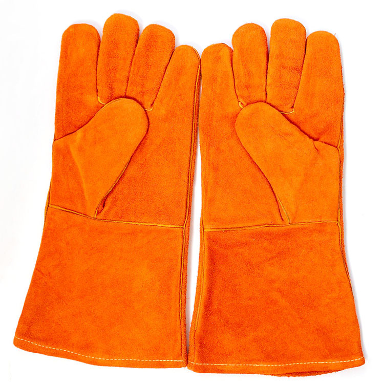 Endure High Temperature Welding Gloves Safety Leather Labor Work Working Protector Cut Resistant Gants Security