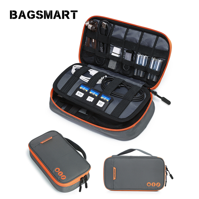 Bagsmart Travel Electronic Accessories Bags Data Cable Earphone Wire Power Line Organizer Bag Flash Disk Case Digital Bag