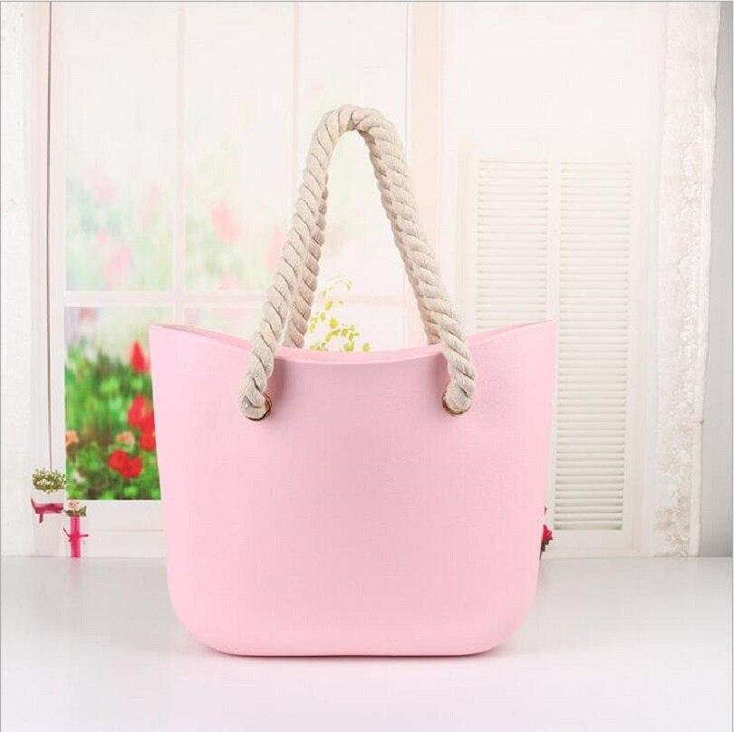 Laisse plage obag sac à main poignées femmes garniture classique bao mini mode silicone épaule shopping top étanche soirée O sac
