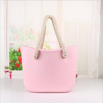 цена на Leash beach obag Handbag Handles Women classic trim bao mini fashion silicone shoulder shopping top waterproof evening O bag