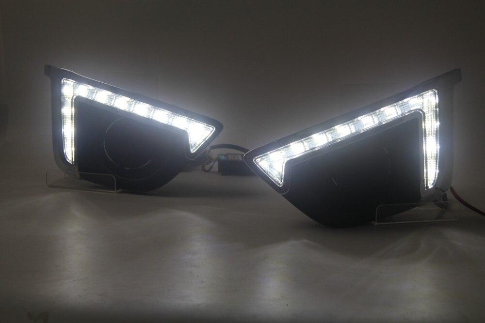 eOsuns LED дневного света DRL высокое качество для Хонда фит джаз 2015, высокое качество водонепроницаемый, желтый поворотник