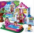 De la muchacha de nueva original banbao ciudad 405 unids dream house building blocks establece diy kits de construcción de juguetes para niñas