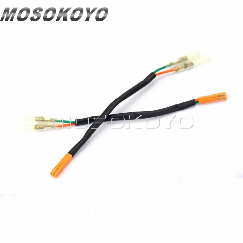 hight resolution of 2 pcs motorcycle turn signal connectors plug indicator wiring adapter for honda cbr600rr cbr1000rr cb650f nc700 vt750 02 12 on aliexpress com alibaba