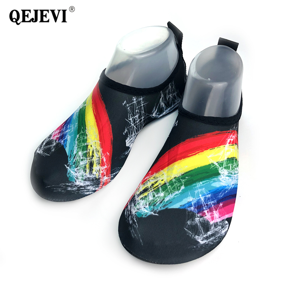 2018 QEJEVI New Arrival Outdoor Beach Summer Soft Socks Shoes Men Upstream Shoes Walking Quick Dry Sneaker Water Aqua Shoes