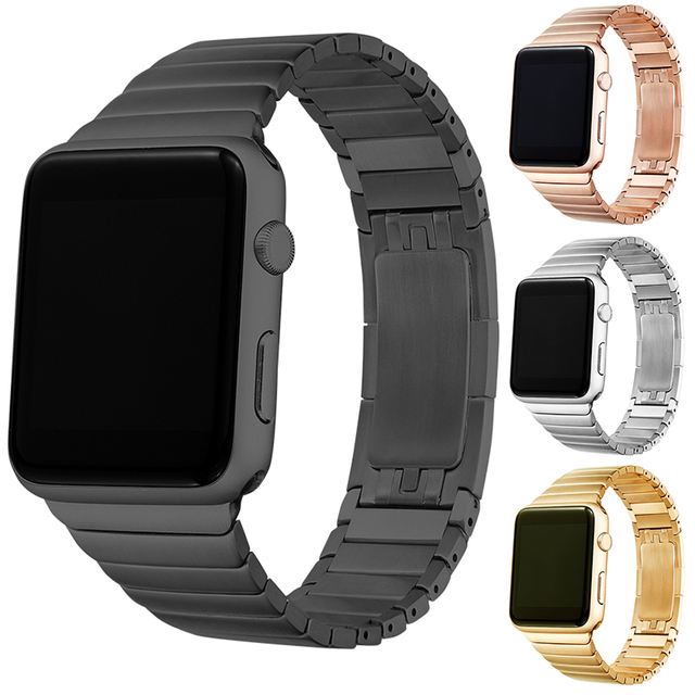 Original High Quality  Stainless Steel link bracelet band & Luxury stainless Metal strap for apple watch 42mm 38mm watchband