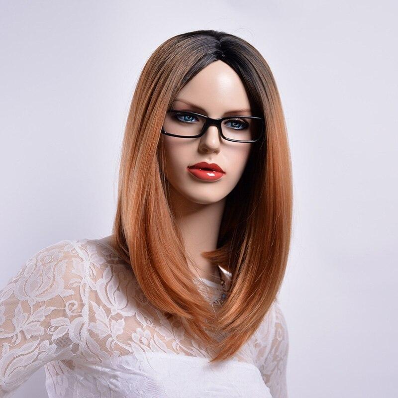 Ombre braune glatte haare
