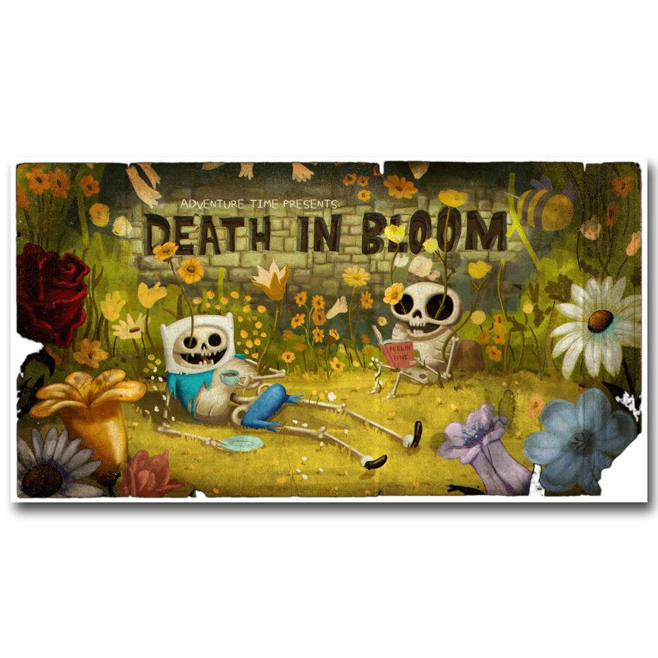 0044A Adventure Time with Finn and Jake Skull Hot Wall Sticker Silk ...