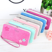 Fashion Women S Long Purses Plum Flower Grain Pencil Box Shape Matte Soft PU Iron Edge