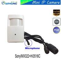 CCTV Mini IP Camera Full HD 1080P Sony322 Cmos 3MP 3 7mm Pinhole Lens Support Microphone