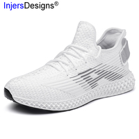 New Arrival Casual Men Shoes Fashion 4D Print Mens Trainers Soft Breathable Walking Shoes Men Tenis Masculino Sneakers Big Size