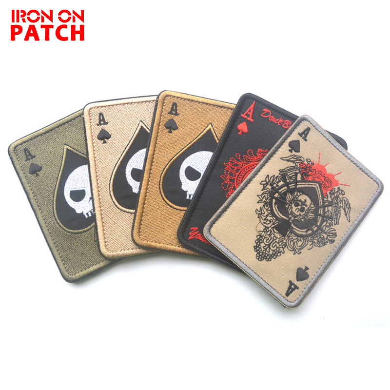Embroidery Patch Cavalryman Ace Of Spades Tarot Card Death