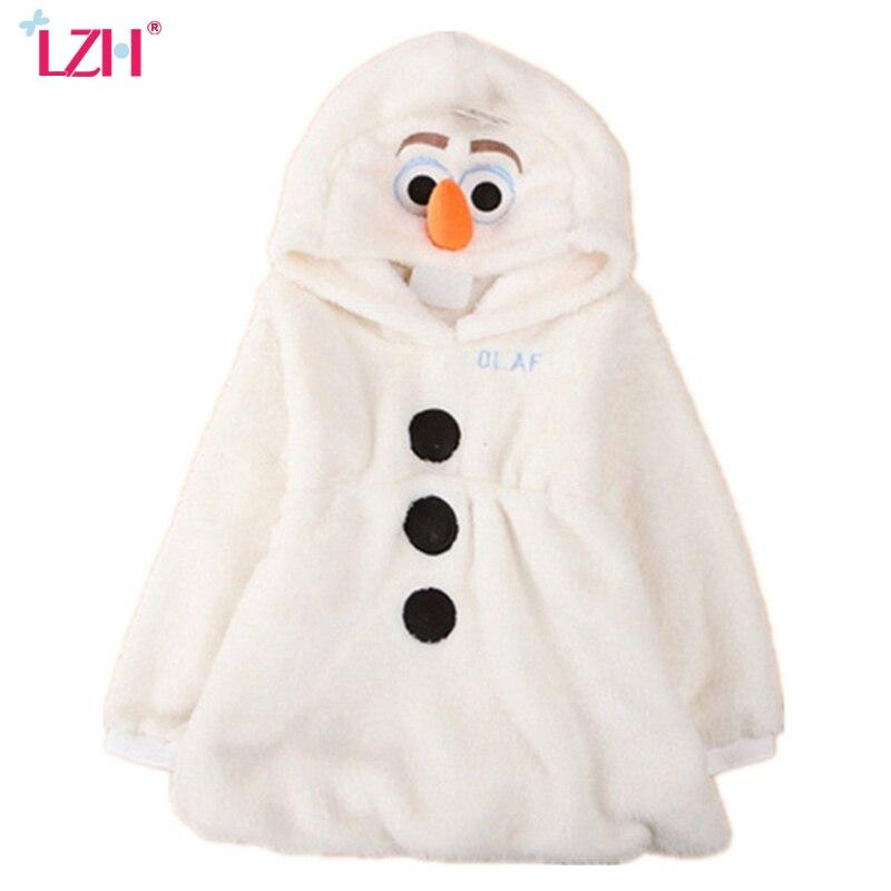 LZH Girl Winter Coat Elsa Jacket For Girls Coat 2017 Autumn Hooded Girls Jacket Kids Warm