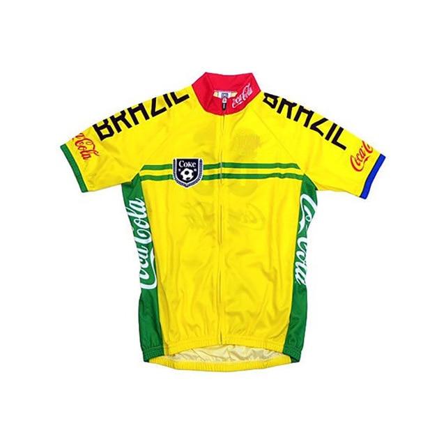 Brazilian classics pro Team Cycling jersey Men Short Mountain Bike Wear  Racing MTB ropa Ciclismo Breathable cycling clothing d90ac5cb2