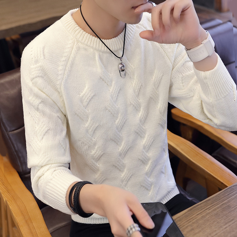 In The Fall And Winter Of 2019 New Men Tide Teenagers Round Collar Render Knitting Sweater