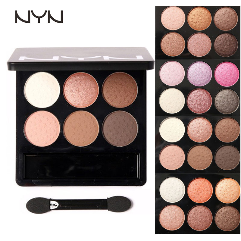 NYN Waterproof Eye makeup 6 Colors Diamond Pigment Makeup Eyeshadow Pallete to Eye Kit matte Eye Shadow Beauty SombraZA