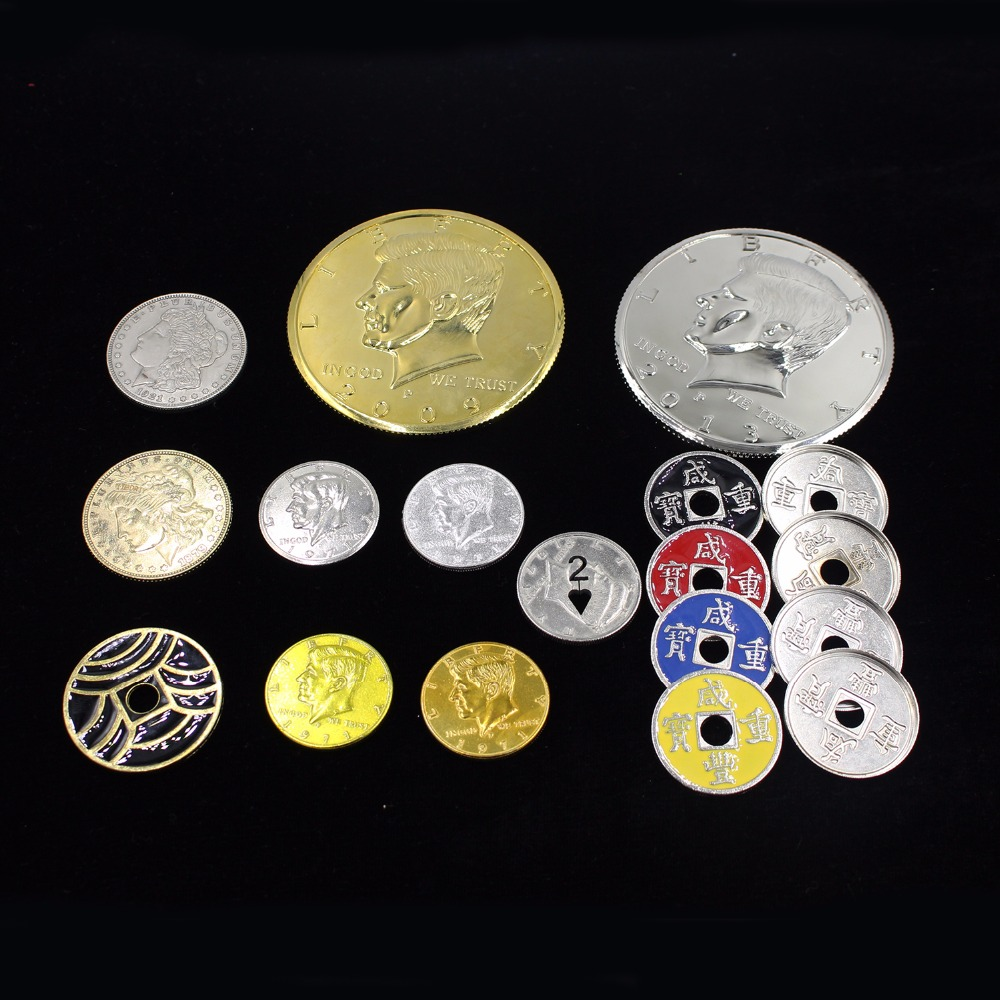 Chinese Half Dollar Morgen Japanese Coins Eragon Magic Tricks Toys Props Professional Magician