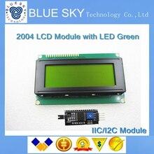 Специальные промо-акции!!!! ЖК 2004 модуль желтый зеленый экран IIC/I2C для Arduino ЖК 2004 Переходная пластина
