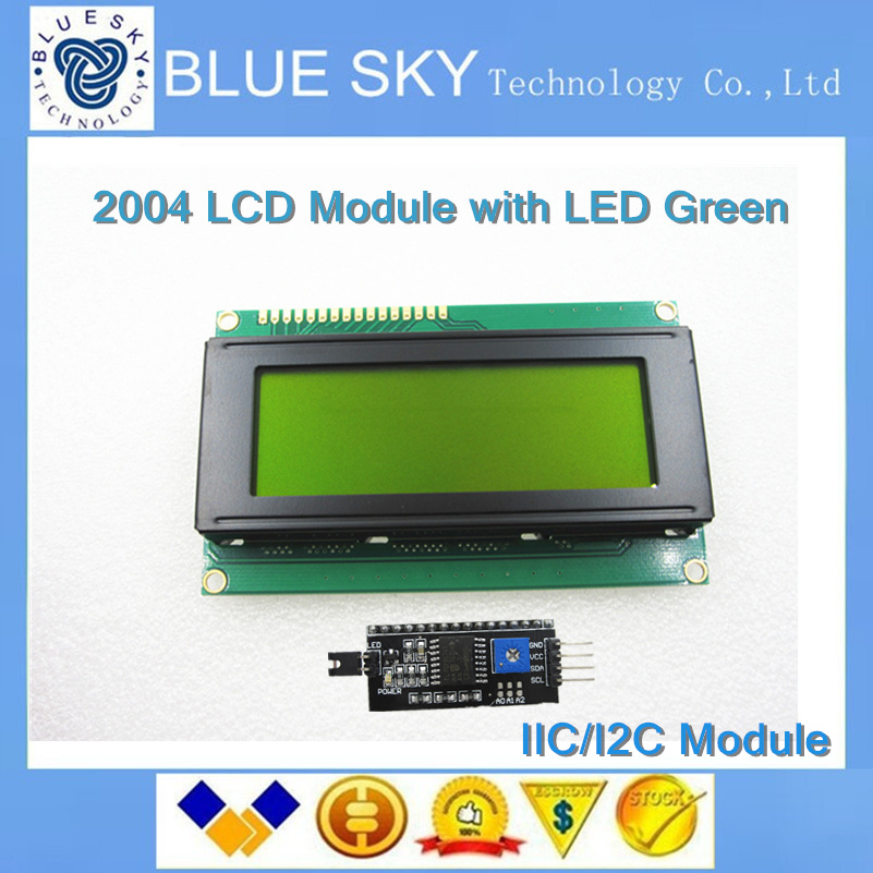 Special promotions  font b LCD b font 2004 module yellow green screen IIC I2C for