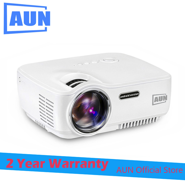 AUN Projector AM01S Android Projector Built-in WIFI Blutooth Support Miracast Airplay LED Projector LED TV Home Theater