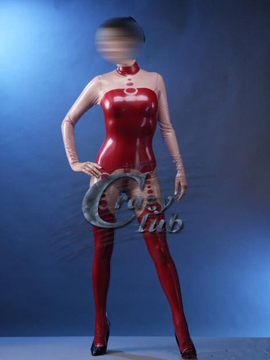 Crazy club_Sexy customize Women Fetish Latex Catsuit Sexy Costume With Back Zipper Under Crotch For Adult Sale on line