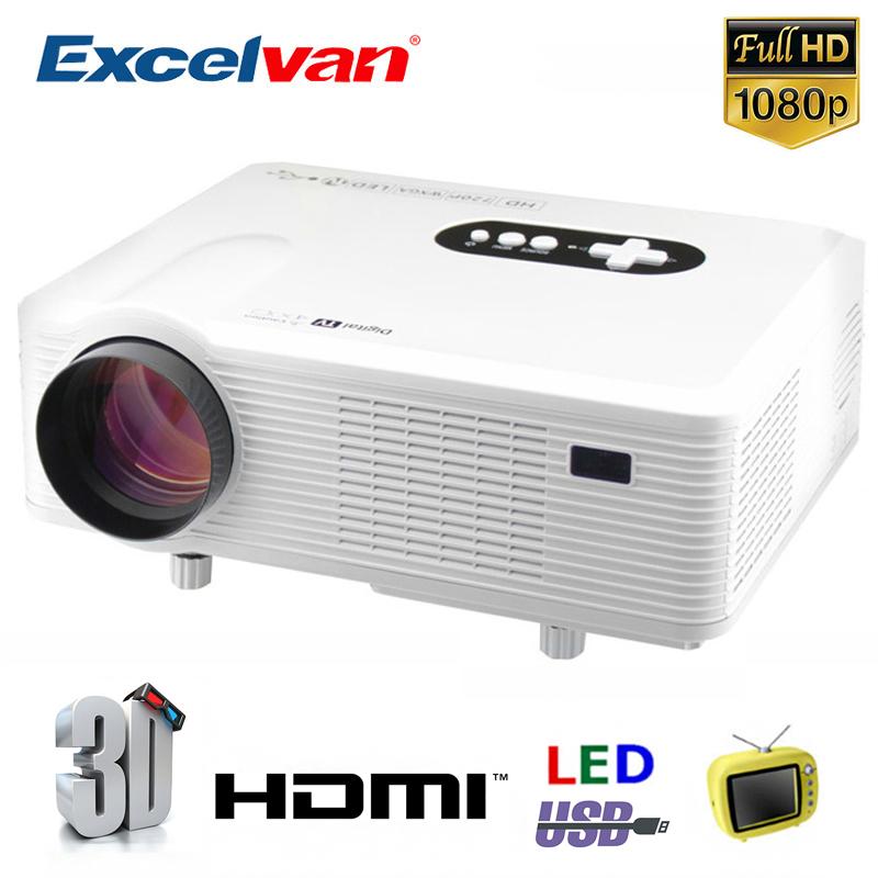 Prix pour Excelvan CL720D Projecteur Full HD Home Cinéma Projecteur 3000 lumen 1080 P HDMI/VGA/AV/DTV Multimédia LCD Proyector
