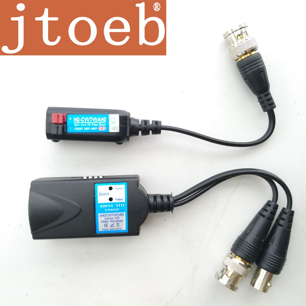 4mp HD Active Video Balun Transmit HD CVI /TVI/AHD/CVBS Video Signal Via UTP DC 12V Power Supply Overvoltage Protection 2kv