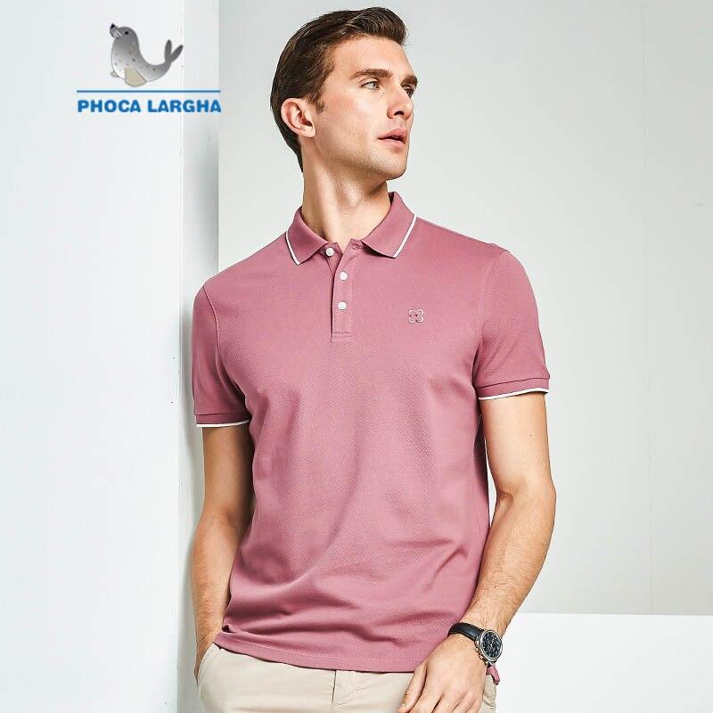 Nouveau POLO d'été pour hommes couleur unie Polos en coton de haute qualité pour hommes d'affaires décontracté marque Polos à manches courtes