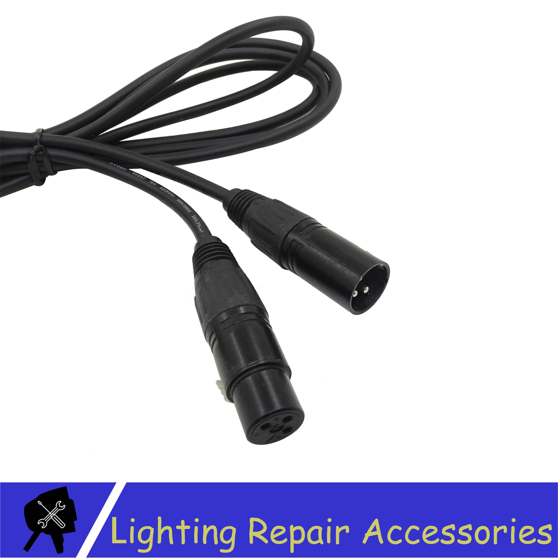 3 PIN DMX кабель 1 м/5 м/10 м/15 м/20 м черный разъем сигнальная линия кабель используется для Led Par сценического освещения оборудования