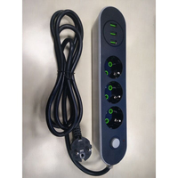 Smart USB Power Strip Socket EU Plug 3 Outlet 3Port USB Charger 2M Power Cord For