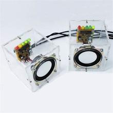 LEORY Новый Стильный Мини Индивидуальность DIY Компьютерные Колонки Маленькие Прозрачные Спикер DIY Производство