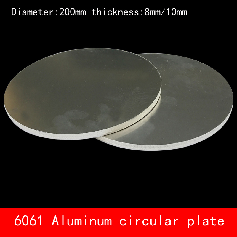 Diameter 200mm*8mm 10mm circular round Aluminum plate 8mm 10mm thickness D200X8MM D200X10MM custom made CNC for parts cnc machined rapid prototyping metal part custom made aluminum parts
