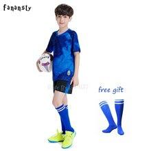 Jersey Soccer survetement football 2018 2019 Kit Sports Suits boys Football Jerseys kids Custom Design Tracksuit Uniform