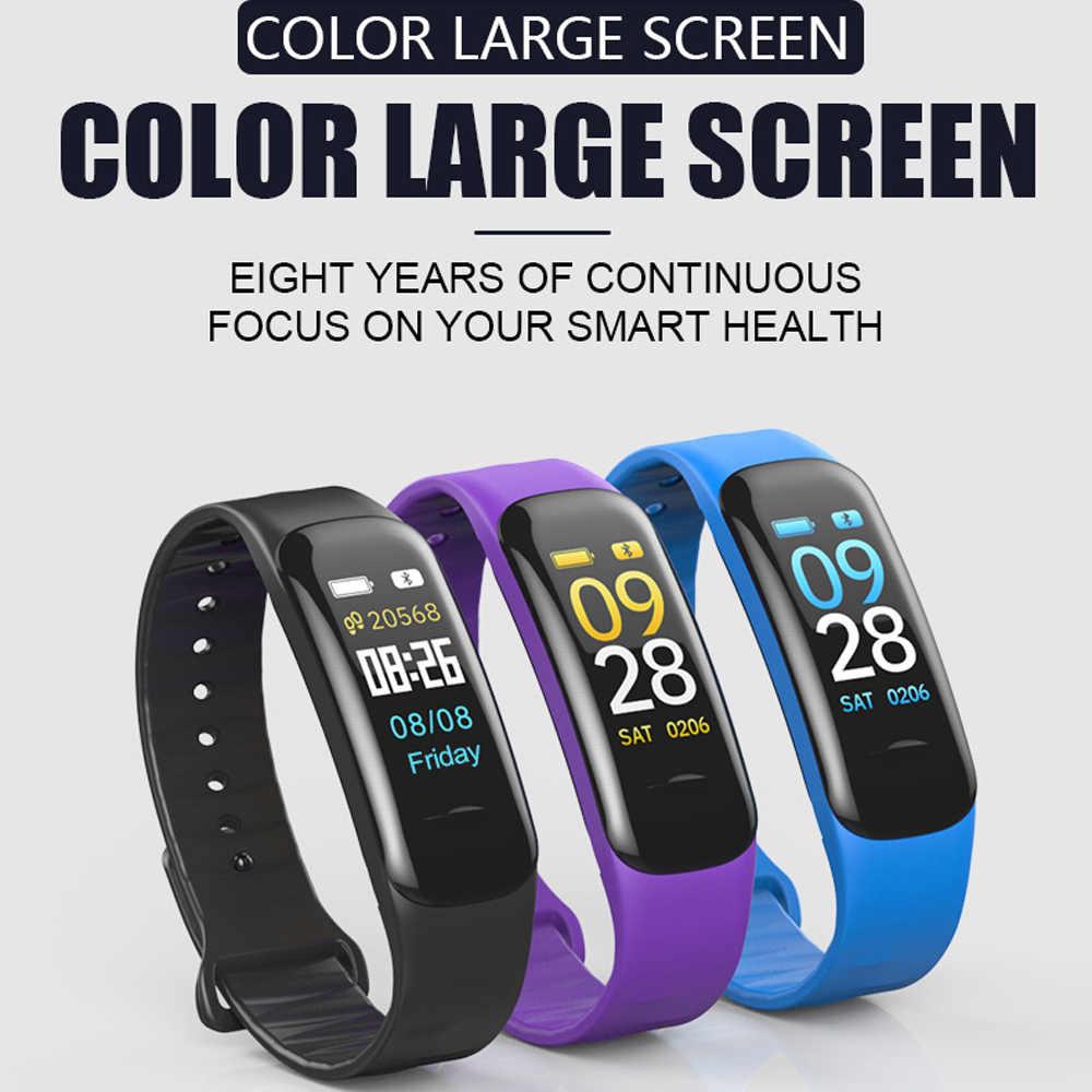 VESTMADRA C1 Plus Color Screen Smart Bracelet Blood Pressure Smart Band Heart Rate Monitor Smart Fitness Tracker Wristband