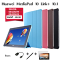"For Huawei MediaPad 10 Link + / Link/ FHD thin leather case S10-233L/ S10-201U/W/ S10-231U/W tablet PC 10.1"" fixture smart cover"